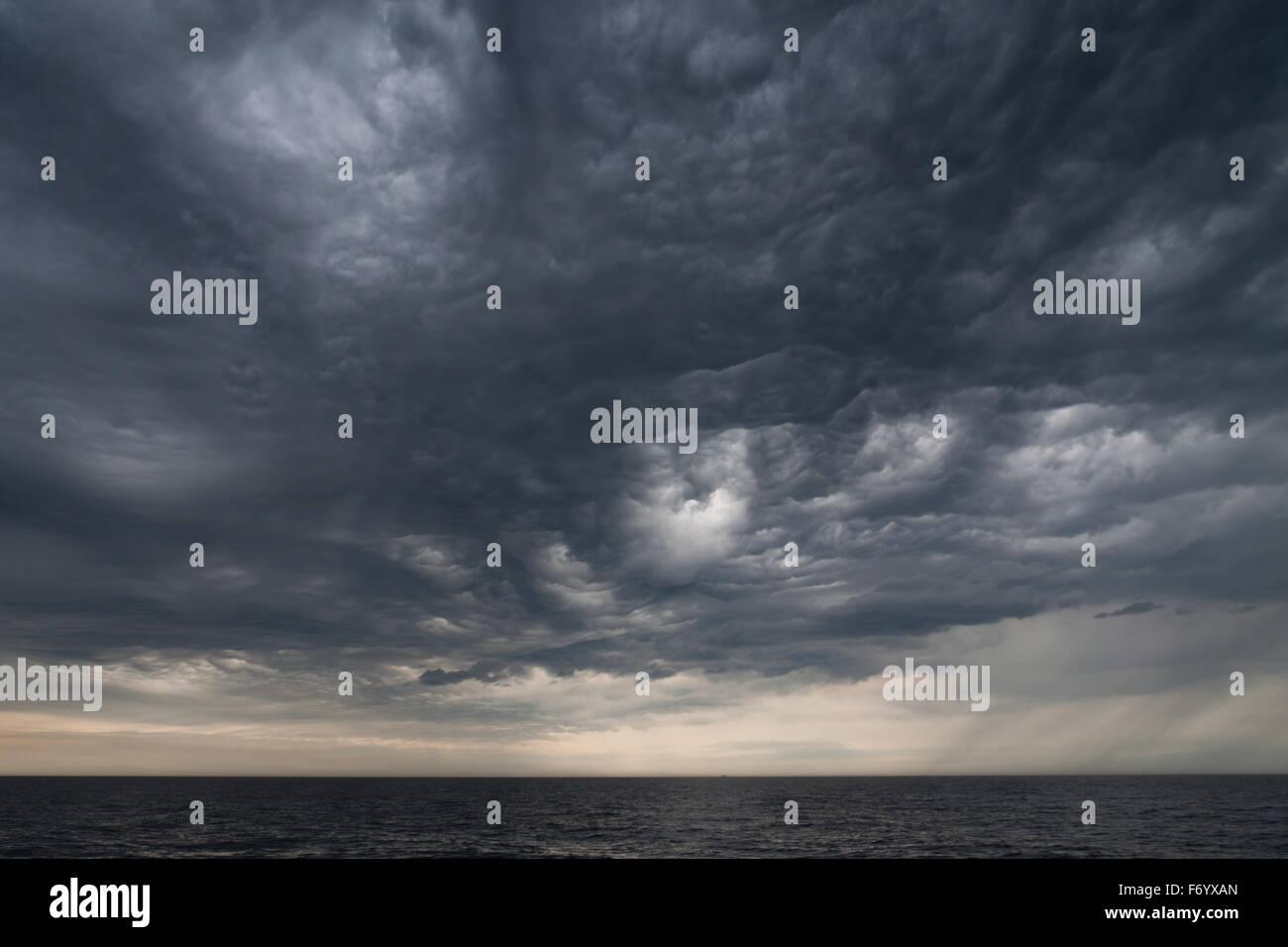 Dramatic sky over the sea - Stock Image