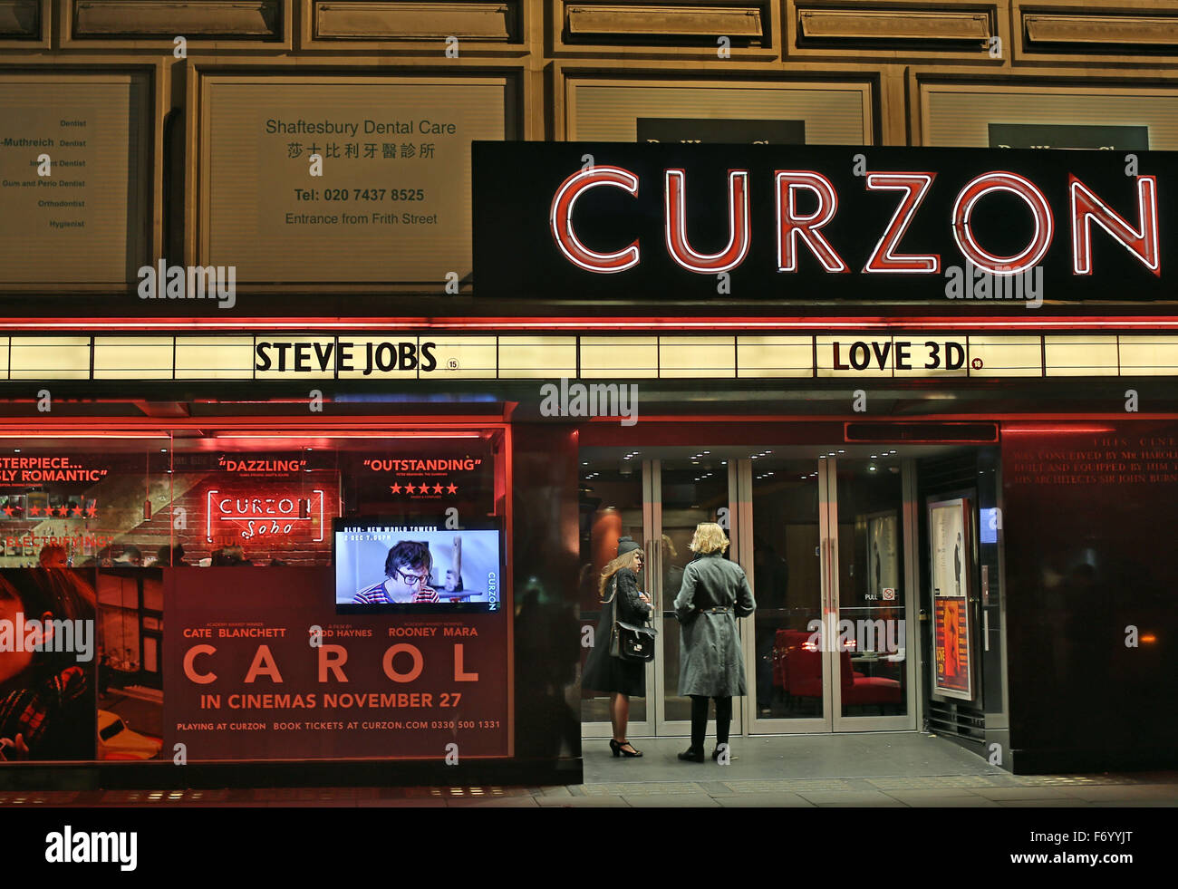 Curzon Soho cinema, Shaftesbury Avenue, London - Stock Image