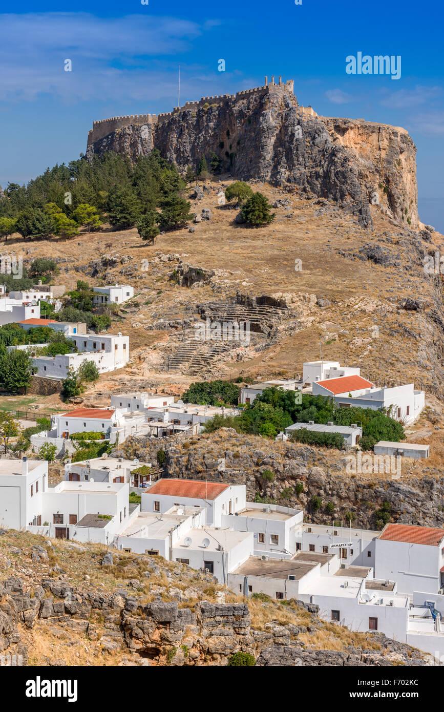 Lindos Acropolis - Stock Image