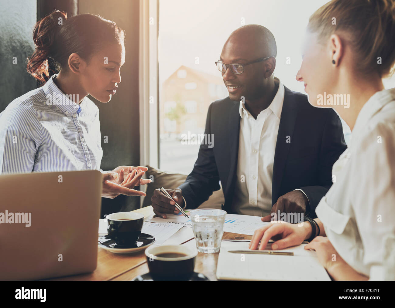 Multi ethnic business people, entrepreneur, business, small business concept - Stock Image