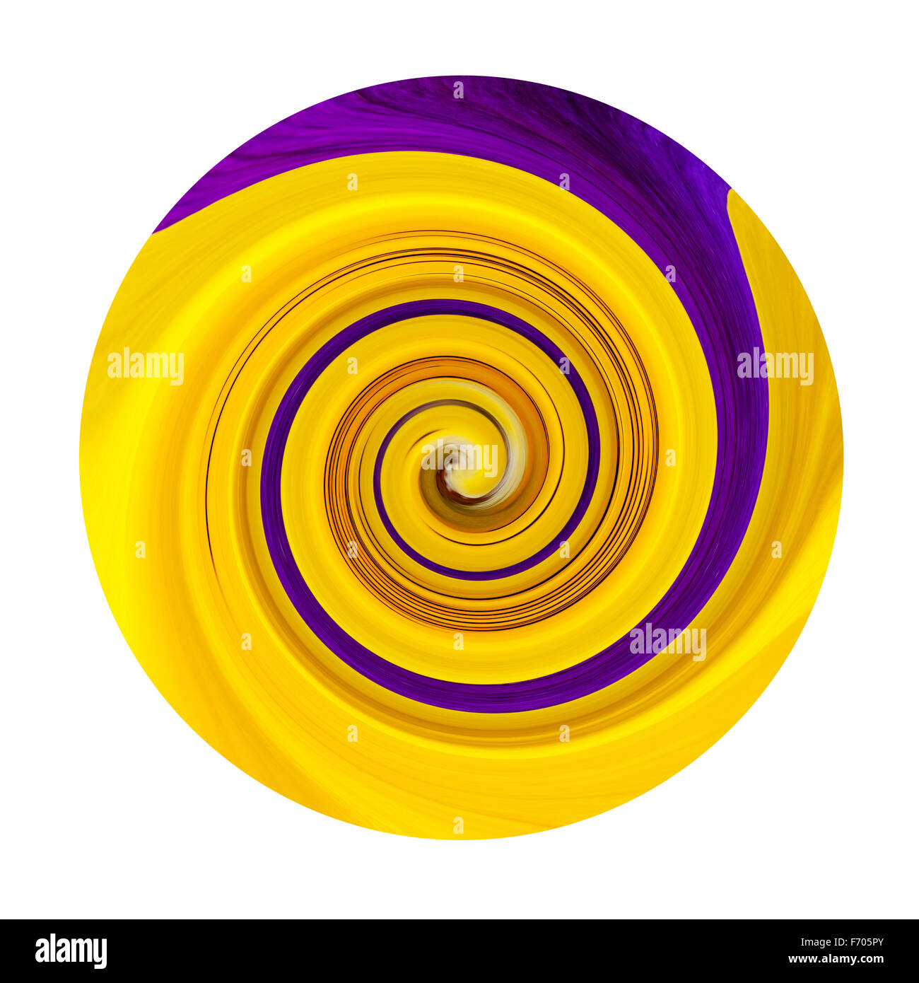Abstract circular colour color swirl - Stock Image