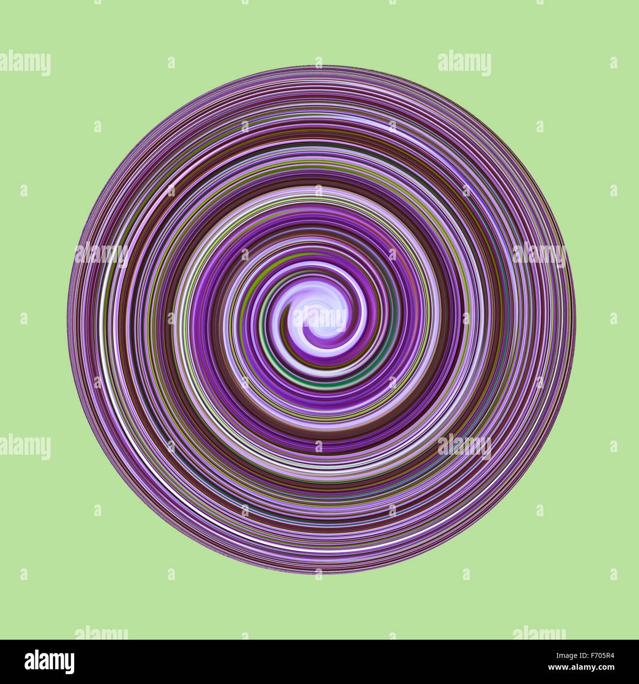 Abstract circular colour swirl - Stock Image