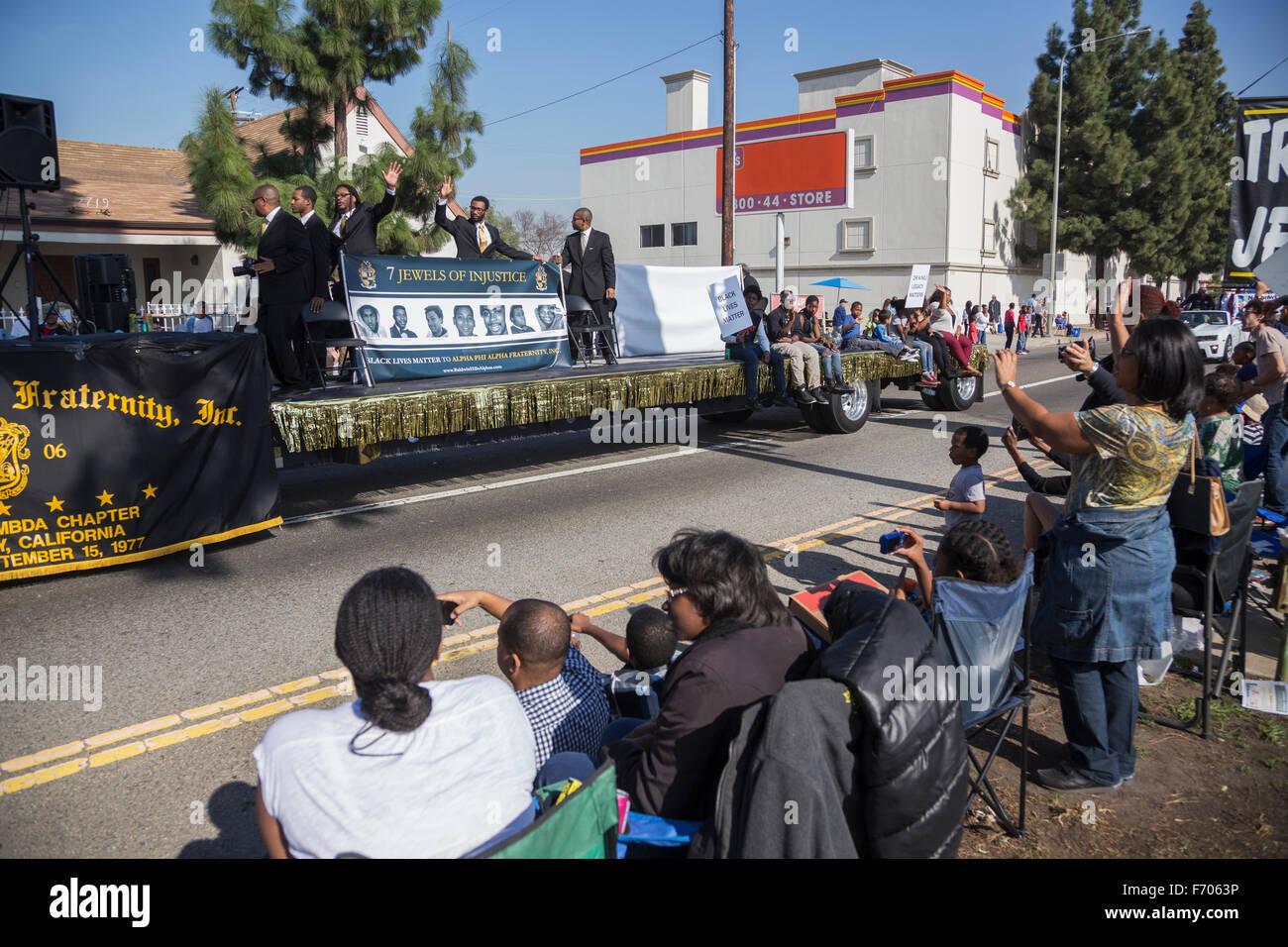 Los Angeles, California, USA, January 19, 2015, 30th annual Martin Luther King Jr. Kingdom Day Parade Stock Photo