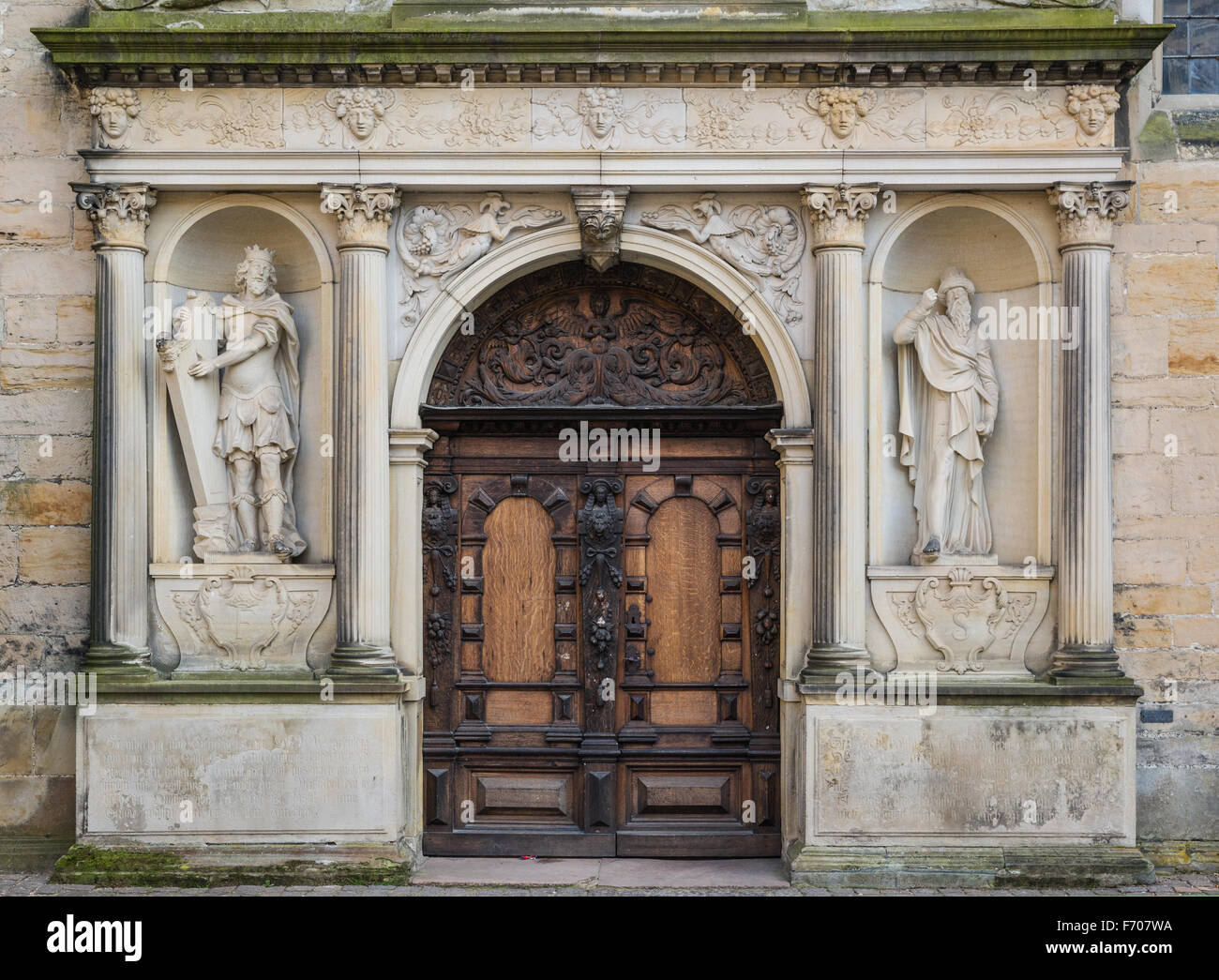 Door in  the Kronborg castle the Helsingor (Elsinore) town, Denmark - Stock Image
