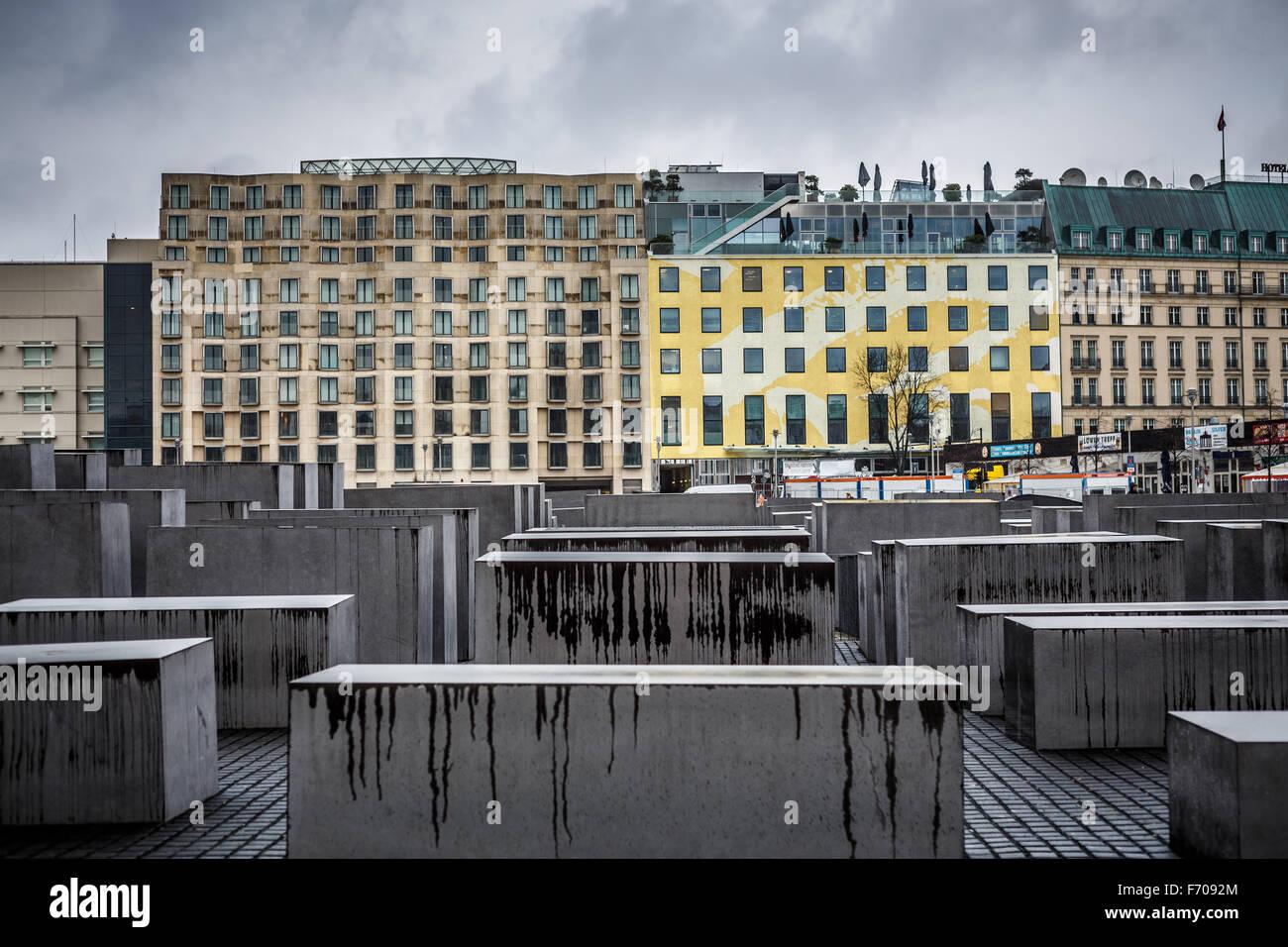 Holocaust-Mahnmal in Berlin, Germany - Stock Image