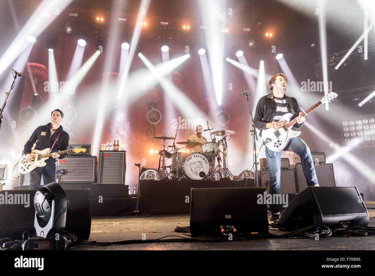 London, UK, 22 Nov 2015. The Vaccines Live Performance at o2 Brixton Academy. Credit:  Robert Stainforth/Alamy Live Stock Photo
