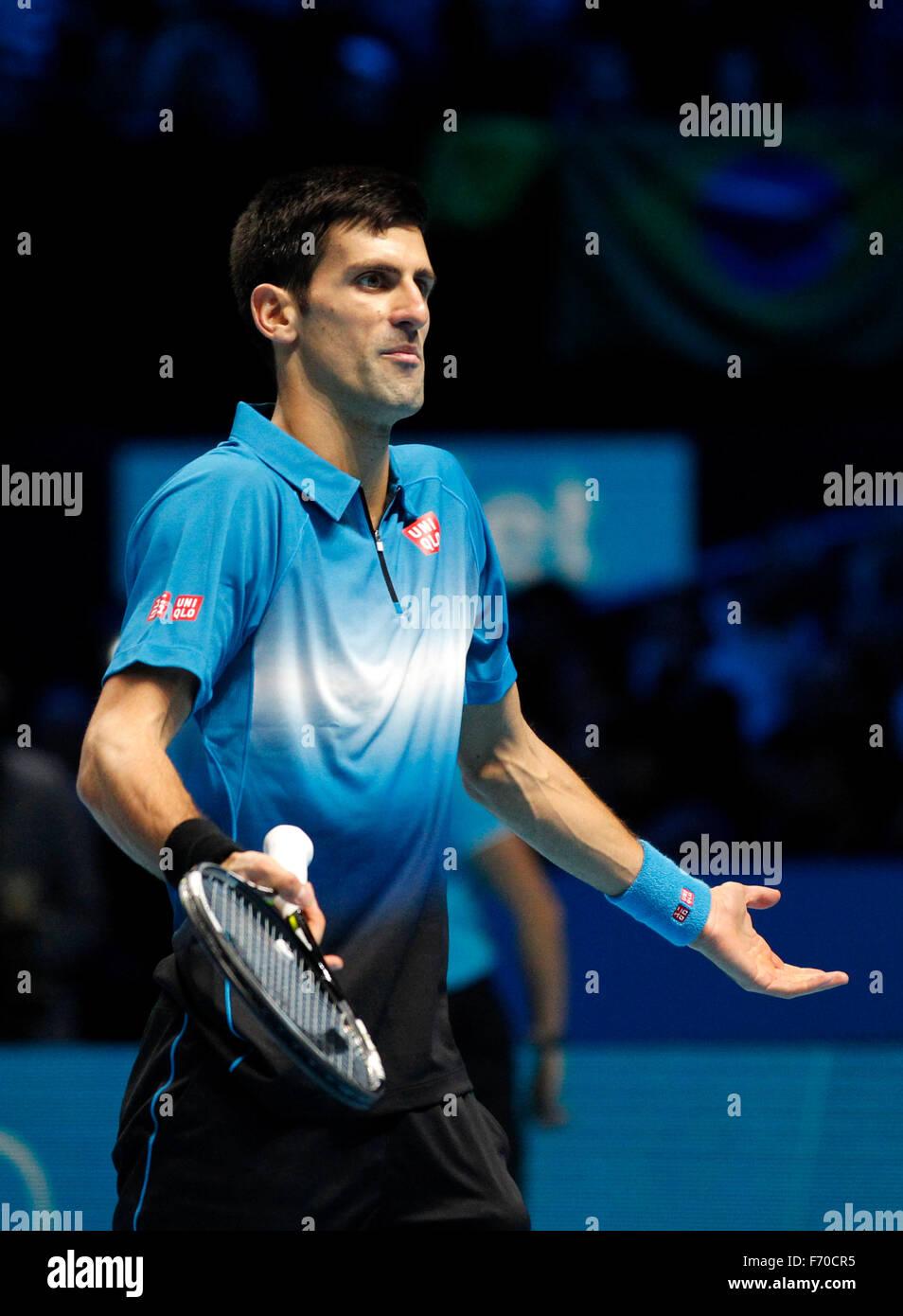 London, Britain  22nd Nov, 2015  Novak Djokovic of Serbia