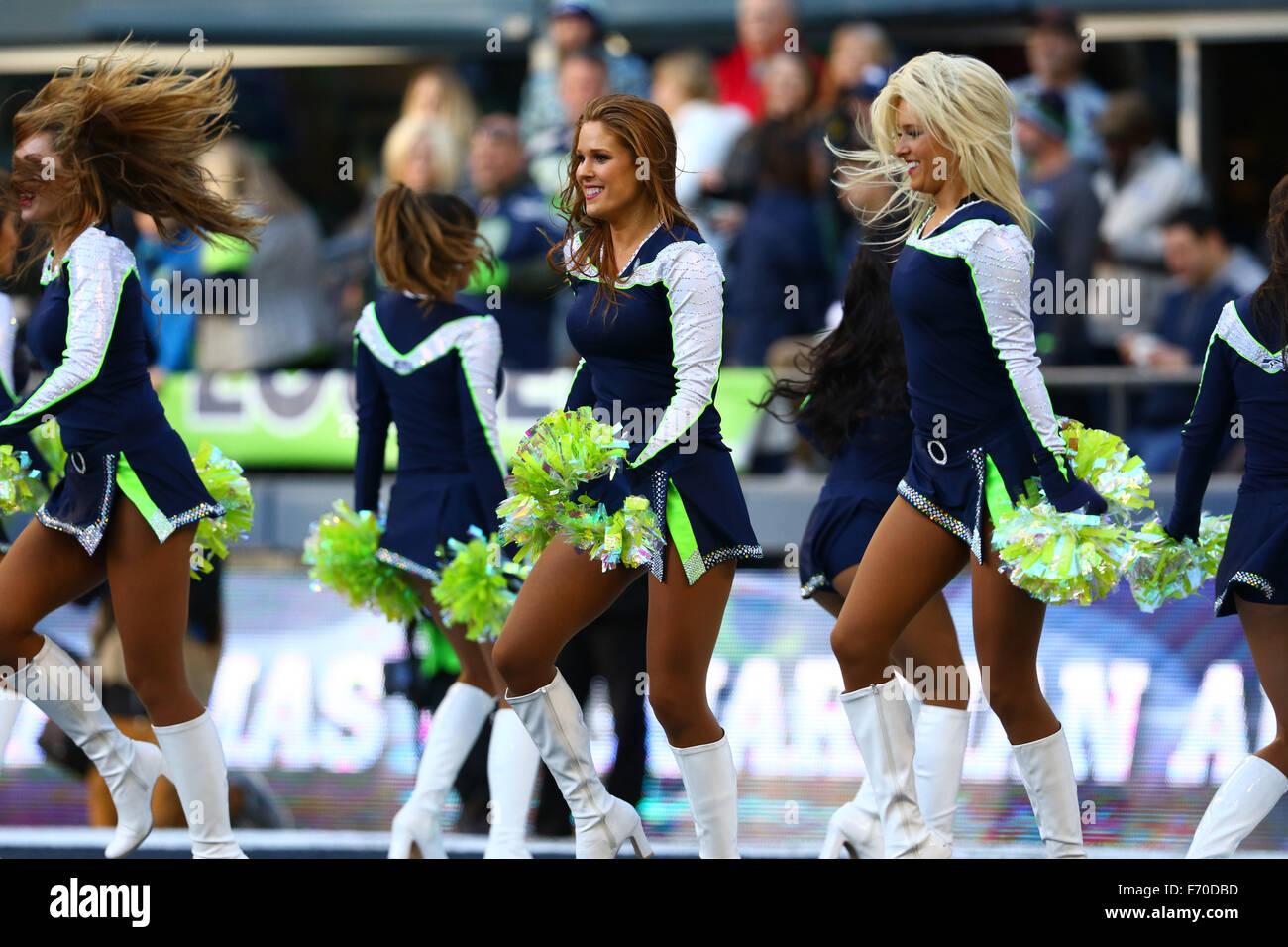 The Seattle Seahawks Cheerleaders Stock Photos The Seattle