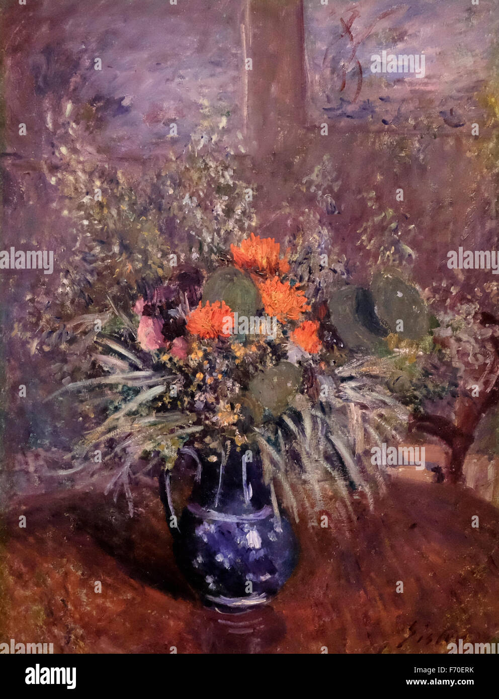 Still life of Wild Flowers - Alfred Sisley - Stock Image