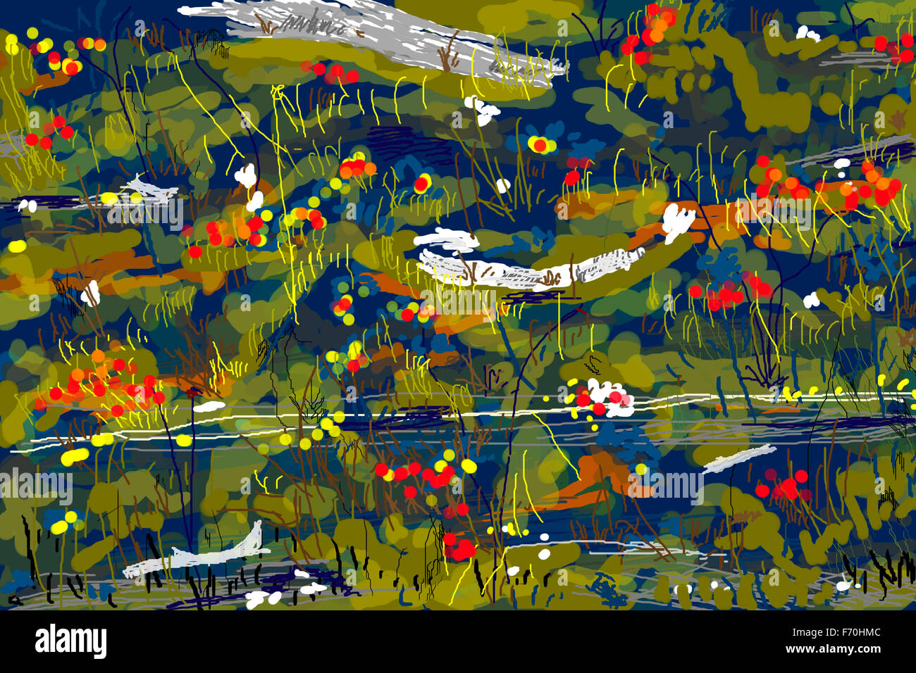 Abstract painting, india, asia - Stock Image