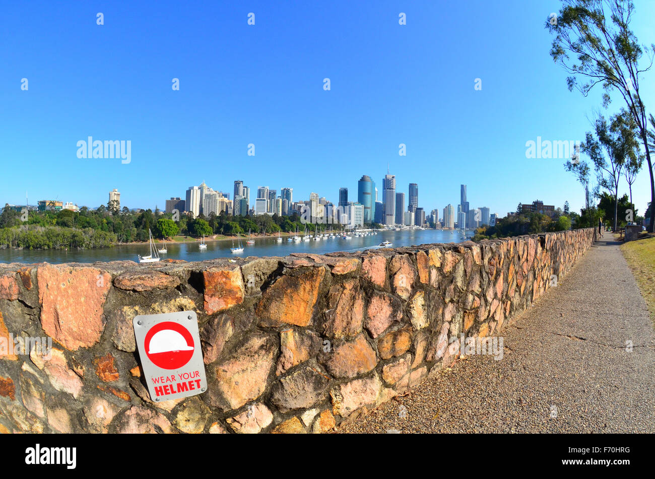 Rock climbing area, Brisbane. - Stock Image