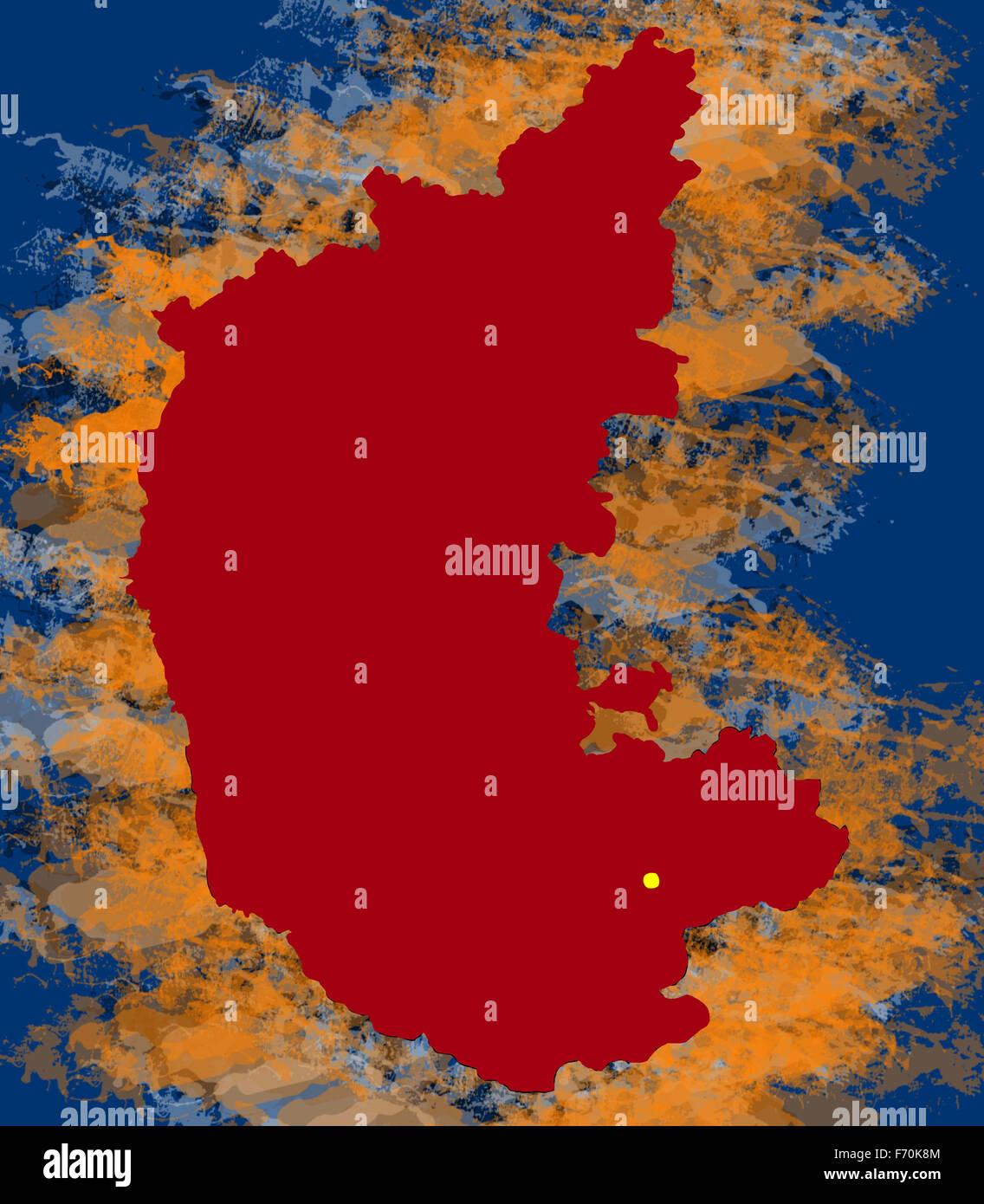 Karnataka Map Stock Photos & Karnataka Map Stock Images - Alamy