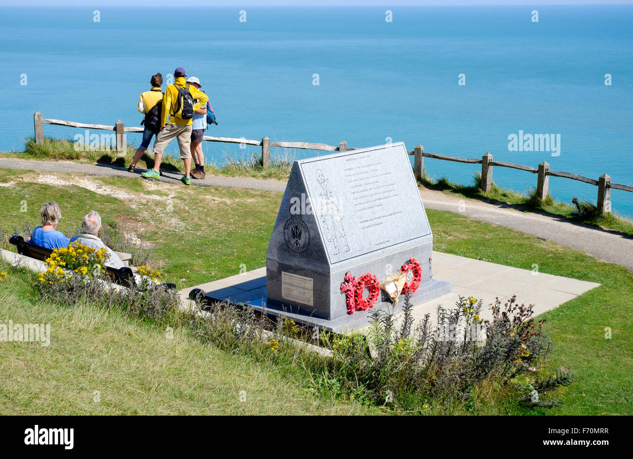 RAF WW2 memorial to the crews lost in Bomber command, Beachy Head, East Sussex - Stock Image