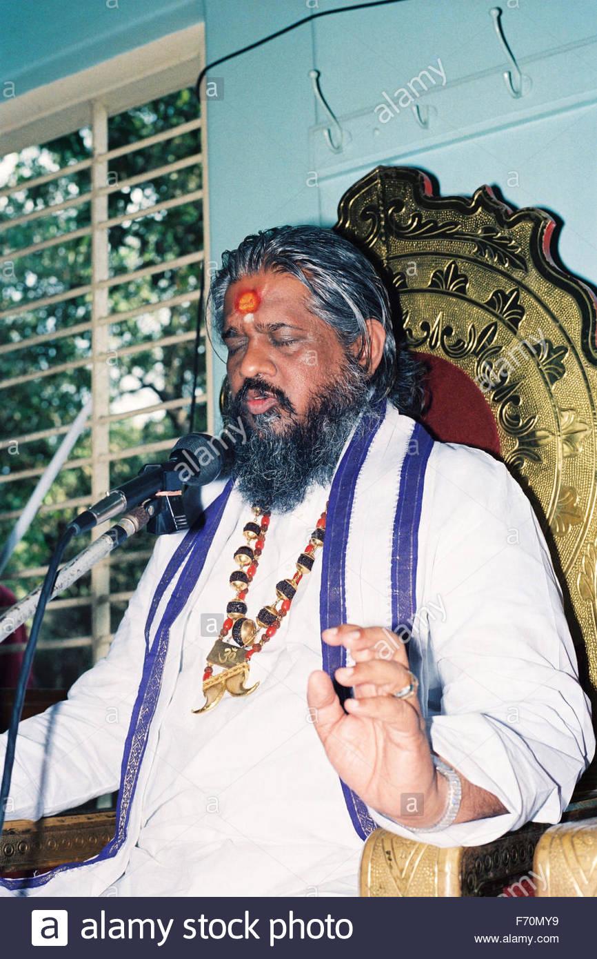 Controversial tantrik chandraswami, india, asia - Stock Image