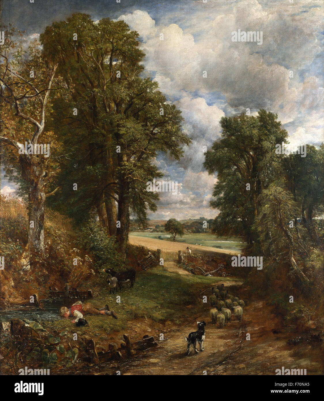 John Constable - The Cornfield - Stock Image