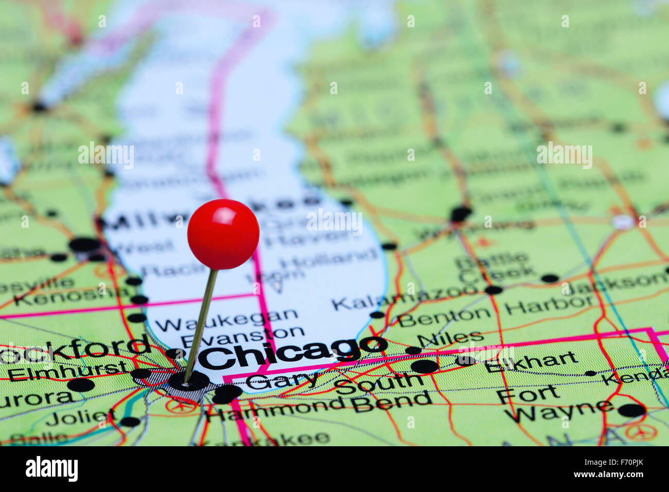 Chicago pinned on a map of USA Stock Photo: 90372203 - Alamy on puerto rico in chicago, money in chicago, bike in chicago, ball in chicago, weather in chicago, usa map in miami, statue of liberty in chicago, animals in chicago, butterflies in chicago, transportation in chicago, nebraska in chicago, home in chicago, turkey in chicago, zip code map in chicago,