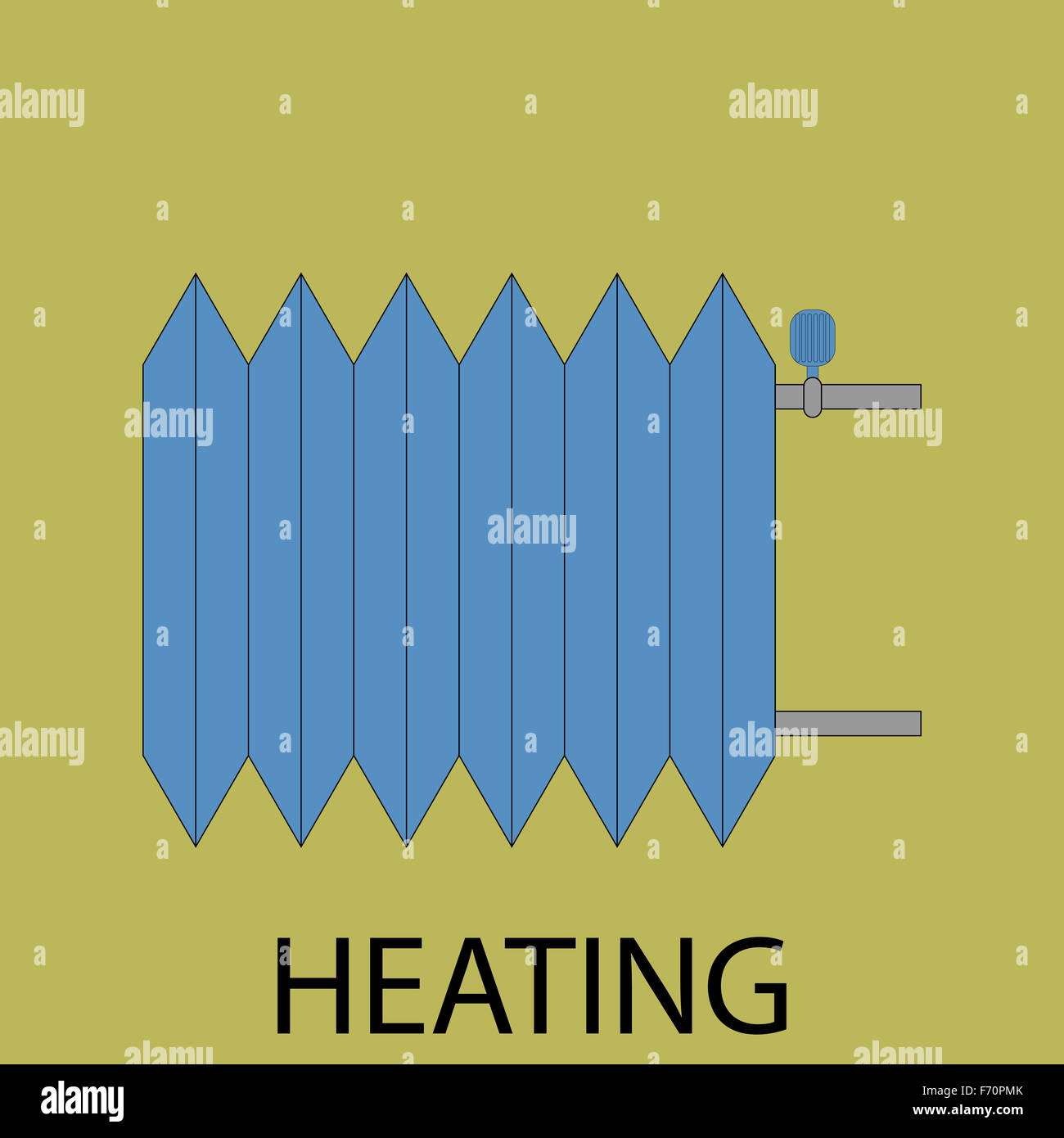 Heating battery icon. Energy power, heat technology, button service ...