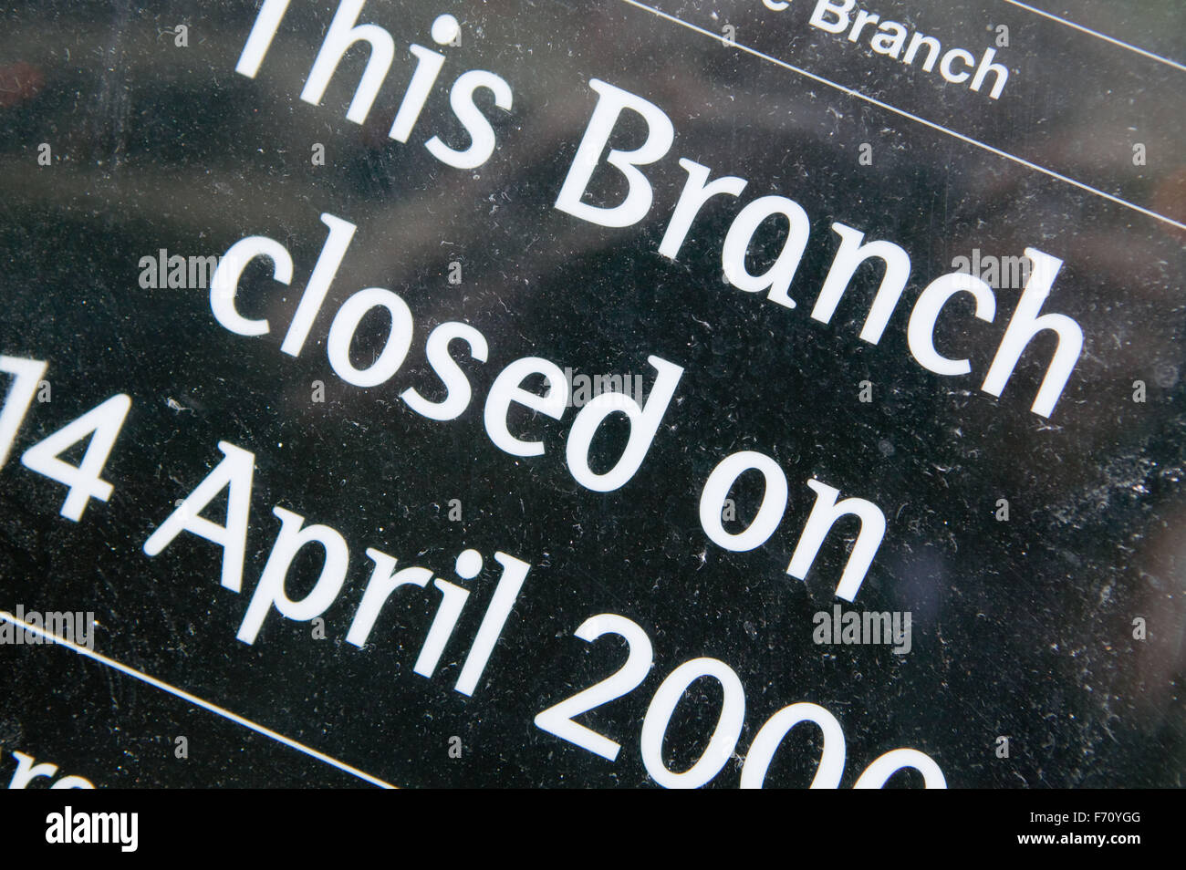 One of many high street banks closures - Stock Image
