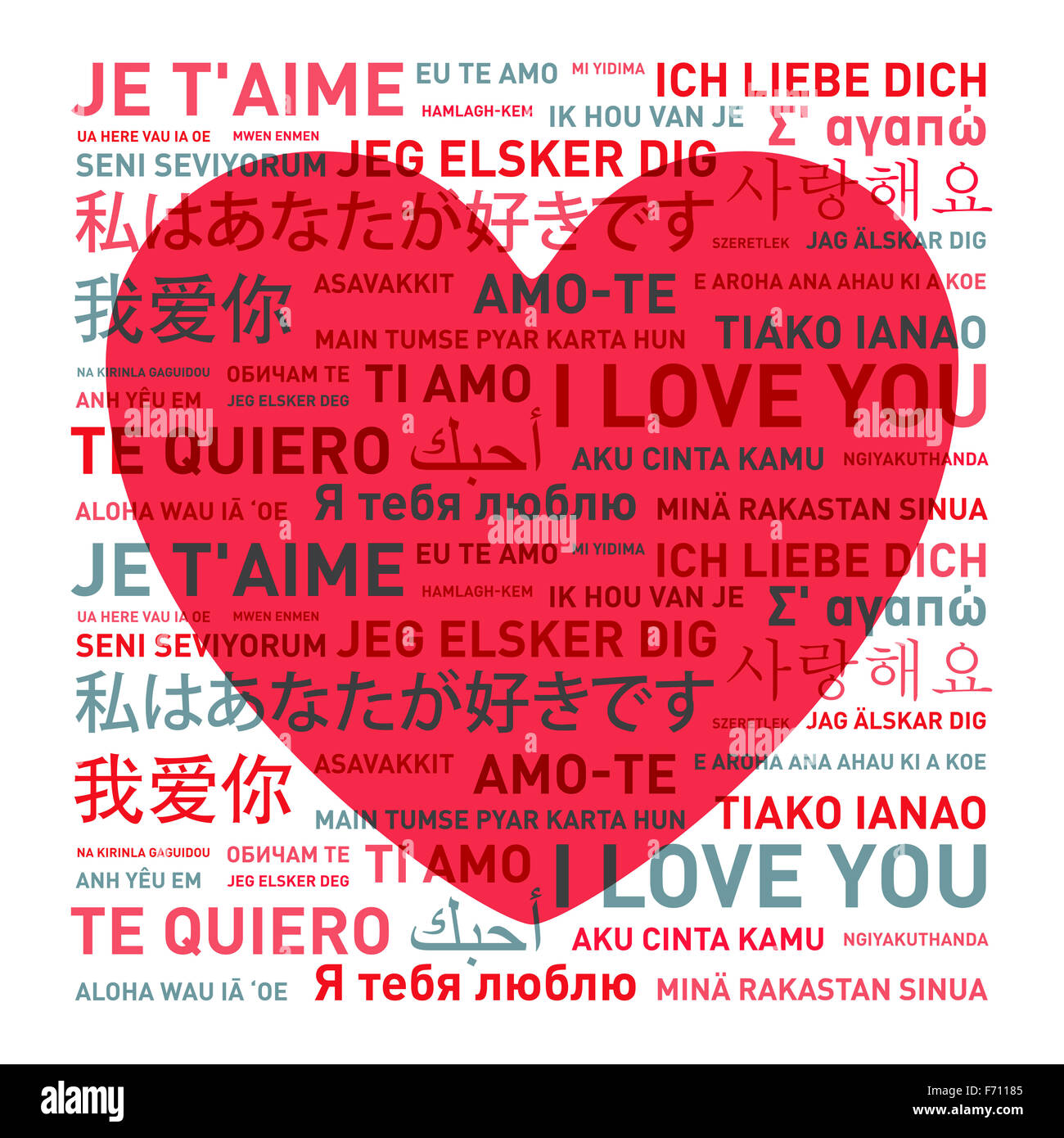 Love in different languages stock photos love in different i love you message card translated in different world languages stock image thecheapjerseys Choice Image