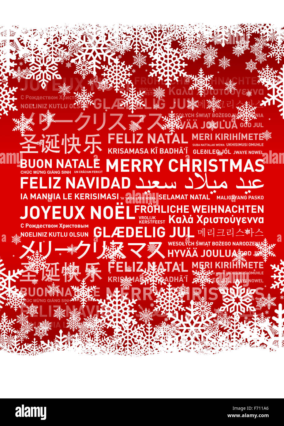 Merry Christmas In Different Languages.Merry Christmas From The World Different Languages