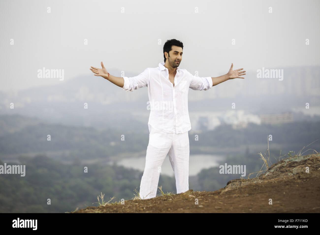 Indian bollywood films actor ranbir kapoor, india , asia - Stock Image