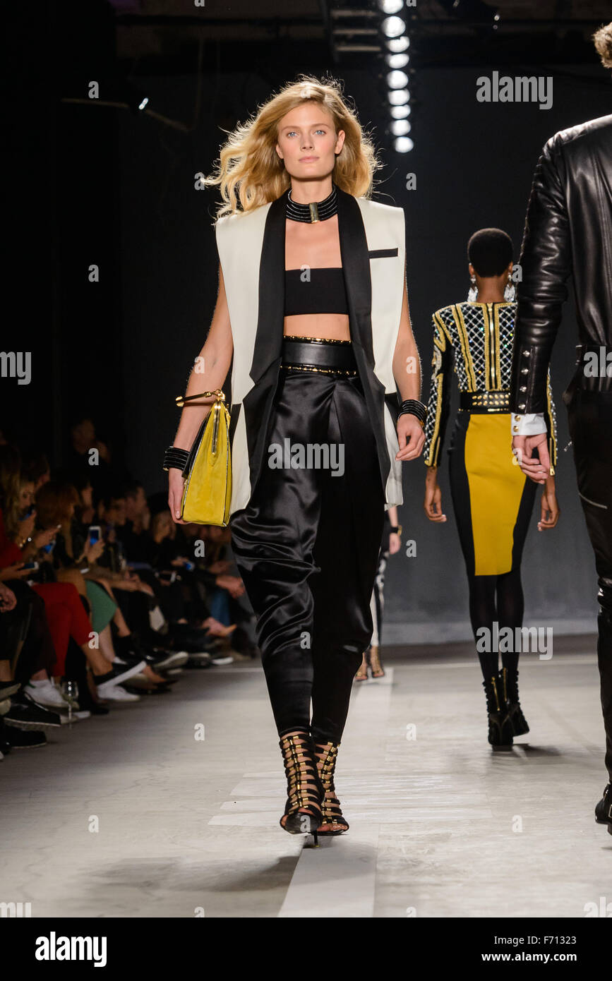 timeless design cheapest price another chance Balmain x H&M collection launchat 23 Wall St in Manhattan ...