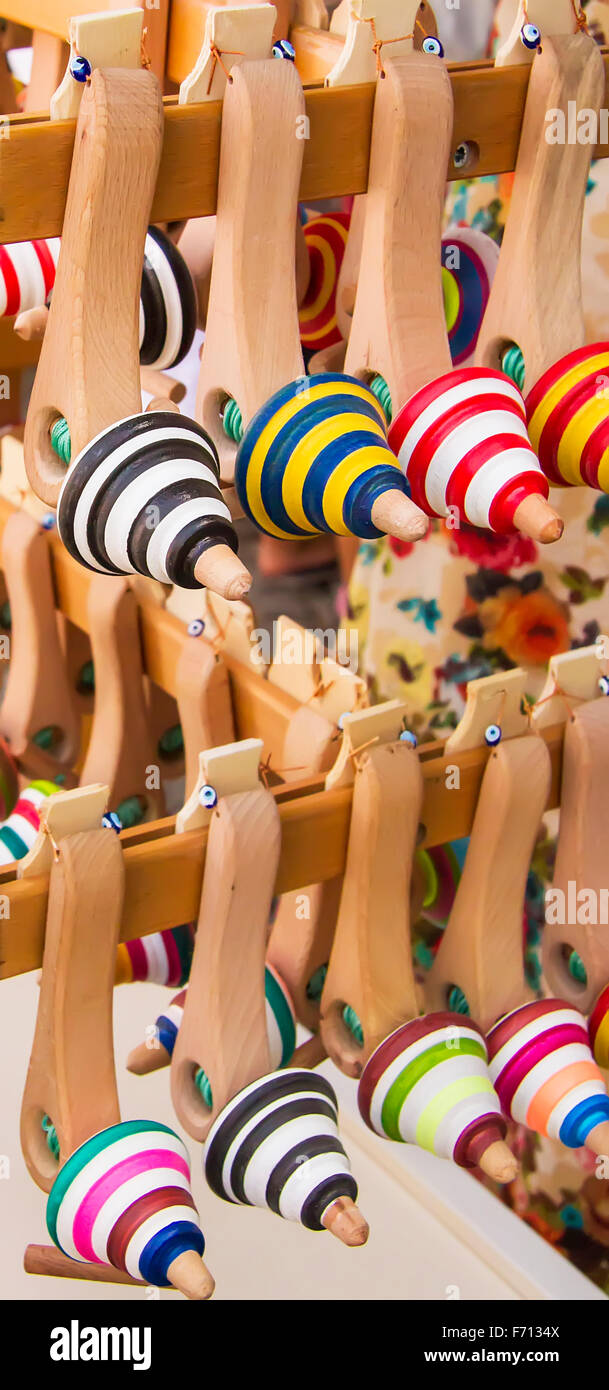Rows Of Colorful Tops At A Street Market - Stock Image