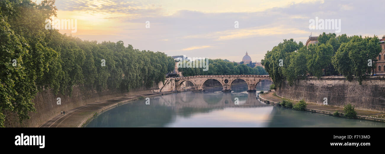 Ponte Sisto bridge in Rome - Stock Image