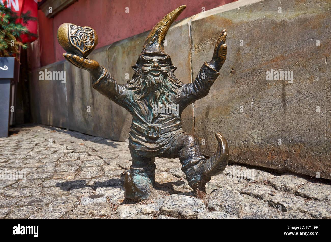 Wroclaw's dwarfs, Wrocław, Poland, Europe - Stock Image