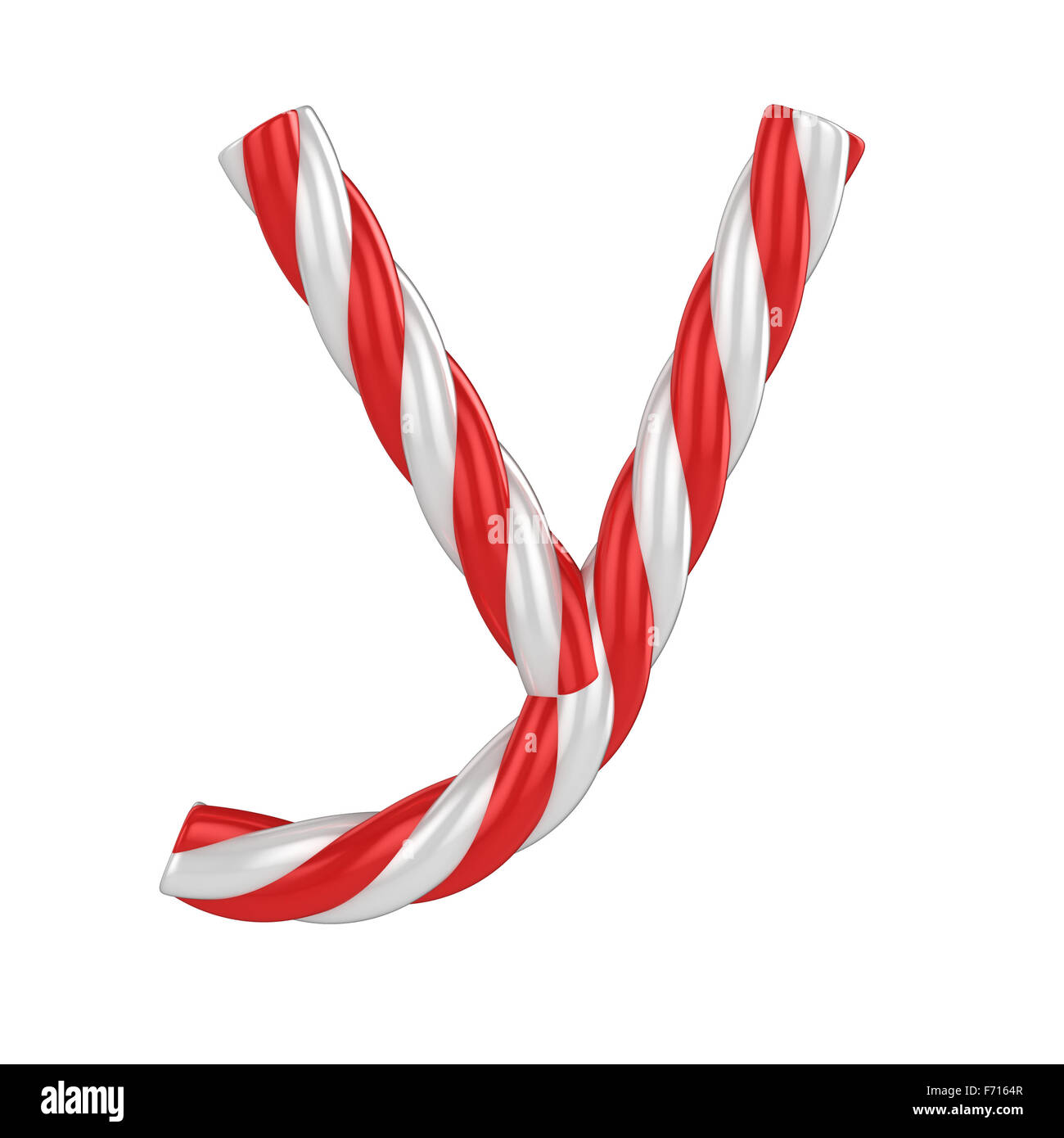 Christmas Candy Cane Font Letter Y Stock Photo 90381223 Alamy