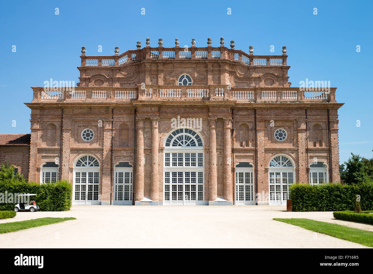 Italy, Venaria, Royal Palace, the main facade of the Juvarriane stables - Stock Image