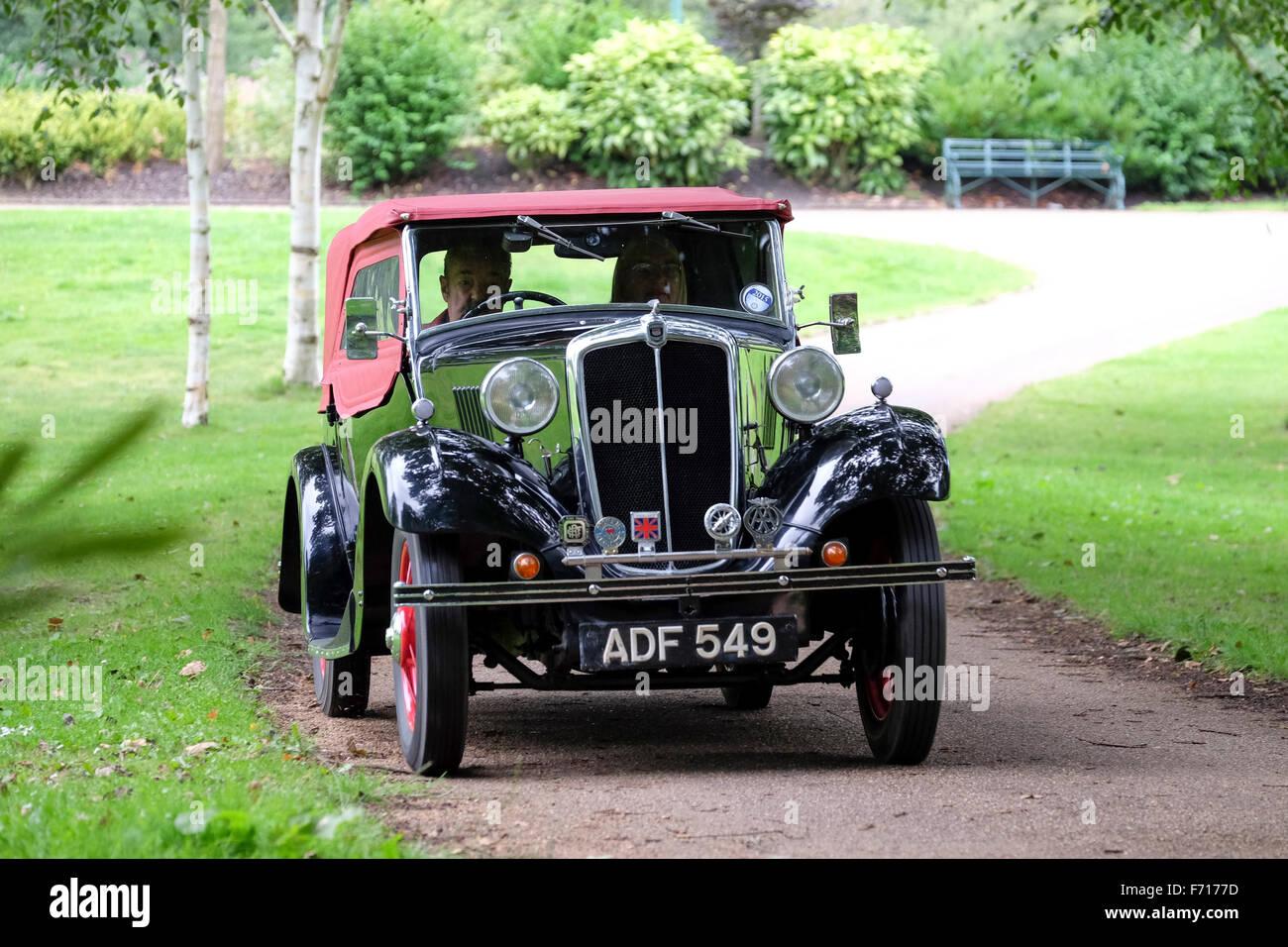 Classic Morris 8 british motor car - Stock Image