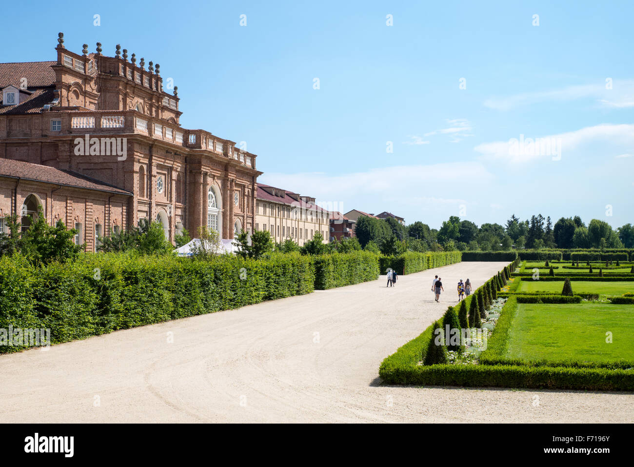 Italy, Venaria, Royal Palace, the gardens and the Juvarriane stables - Stock Image