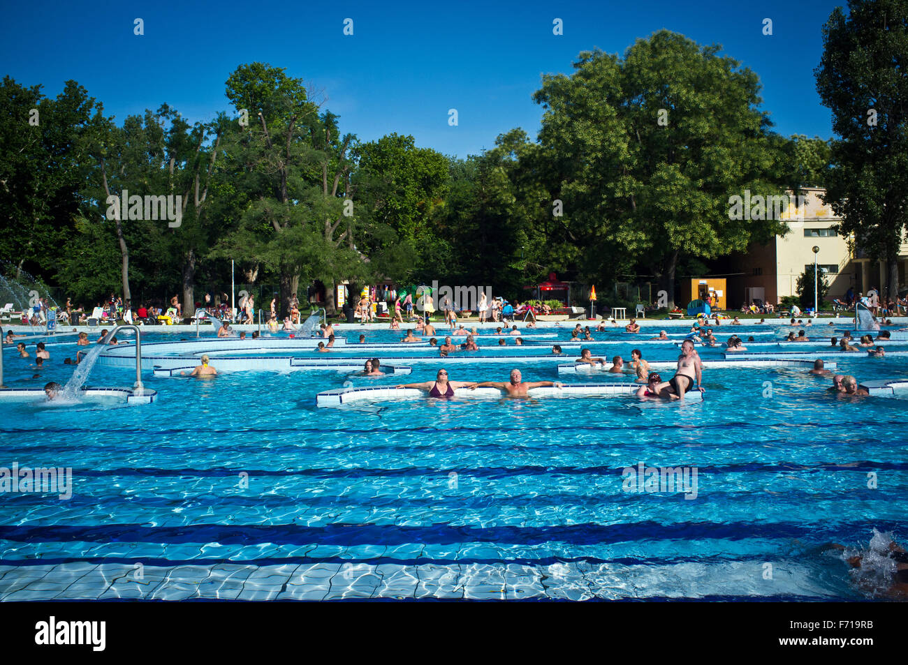 Margaret island swimming pool budapest spa stock photos margaret island swimming pool budapest for Margaret island budapest swimming pool