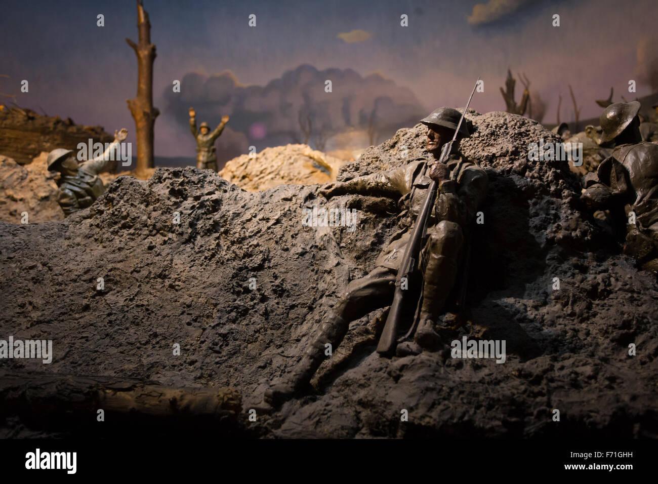 world war 2 battle scene - Stock Image
