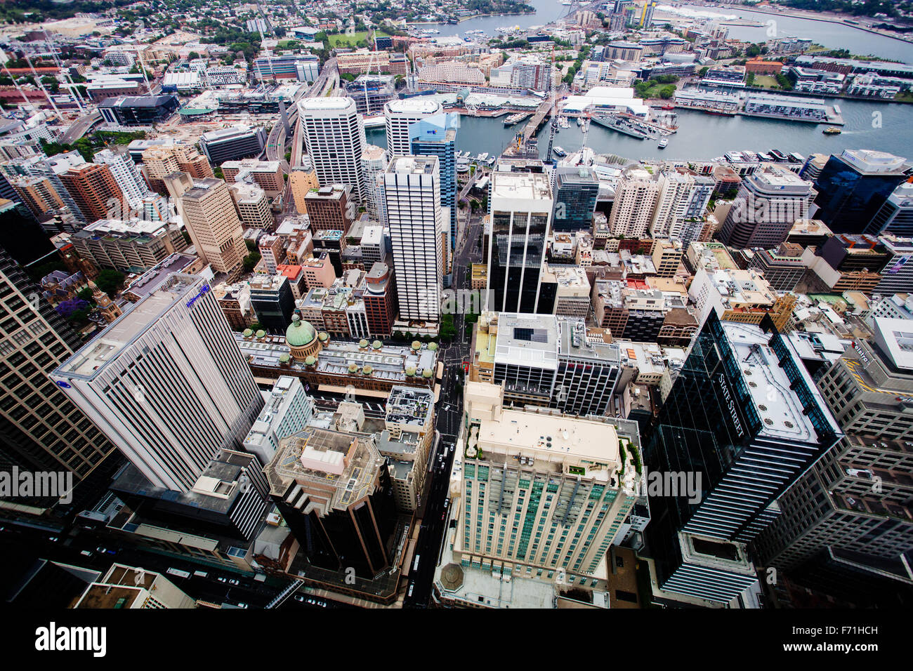 sydney downtown core view from above - Stock Image