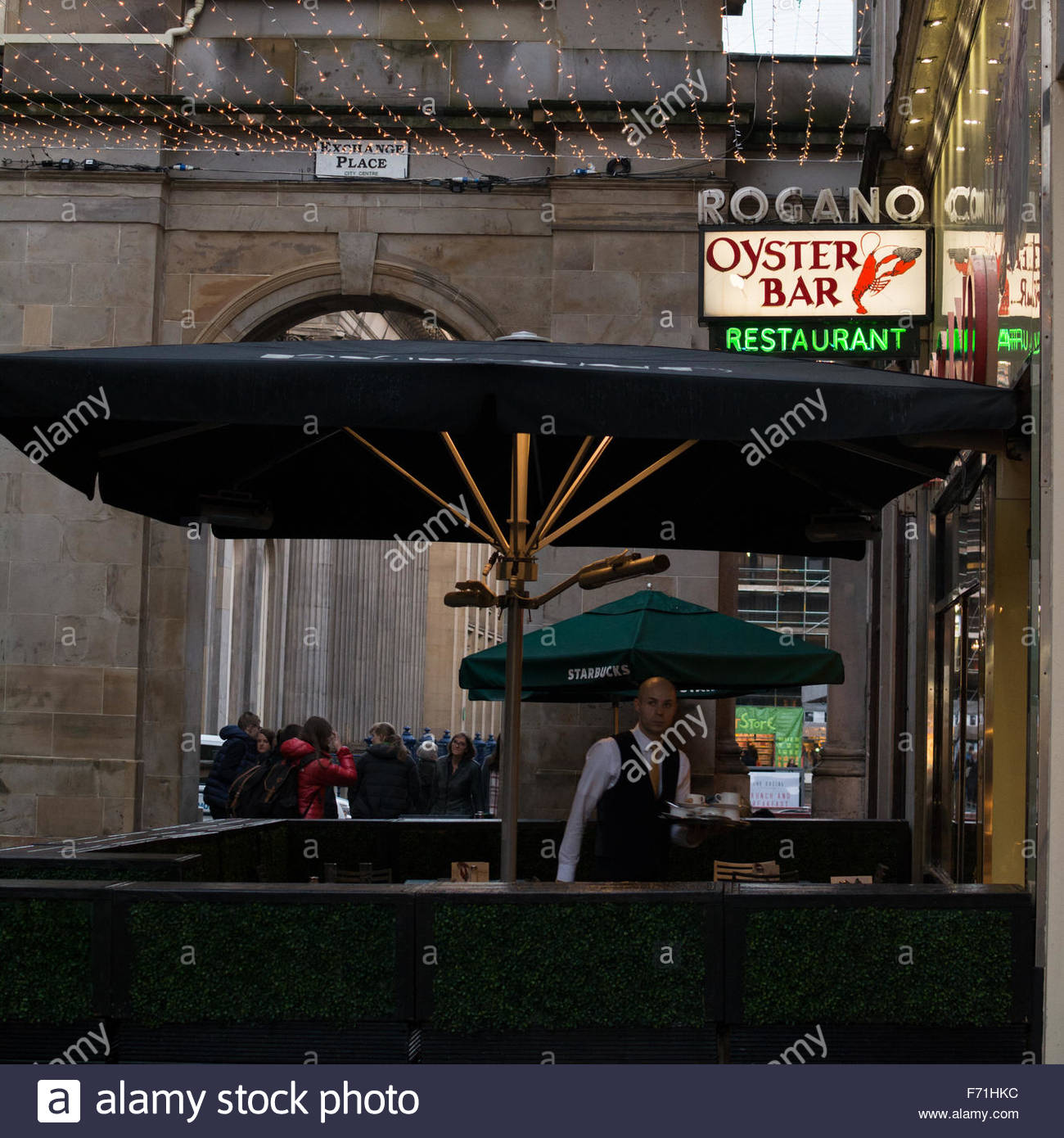 Rogano Oyster Bar Restaurant - the oldest surviving restaurant in Glasgow - open since 1935 - Stock Image