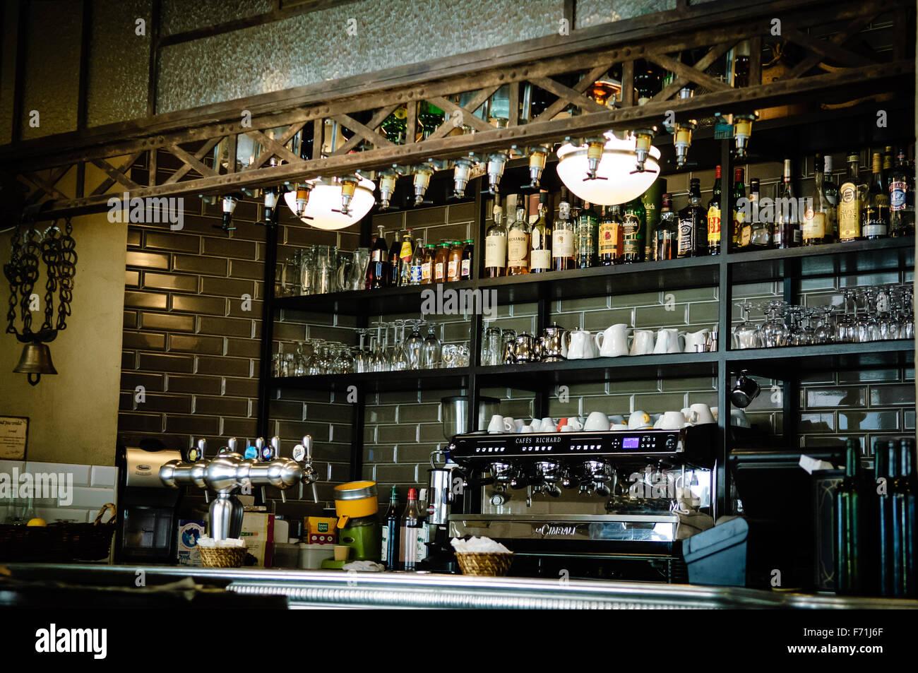 a coffee shop bar in paris france stock photo 90390679 alamy. Black Bedroom Furniture Sets. Home Design Ideas