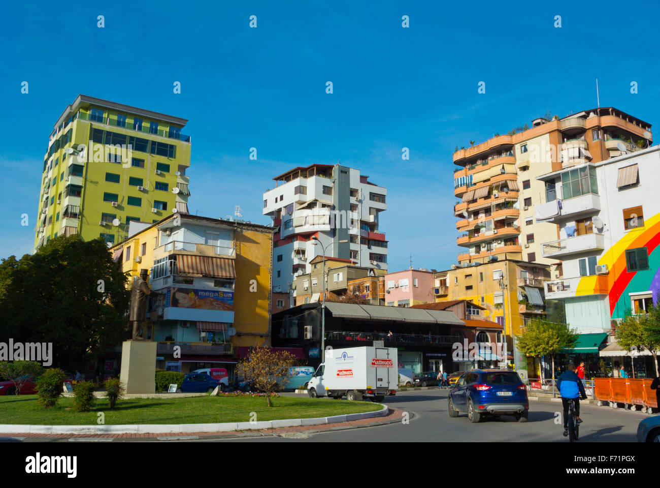 Sheshi Uillson, Wilson square, Blloku district, Tirana, Albania - Stock Image