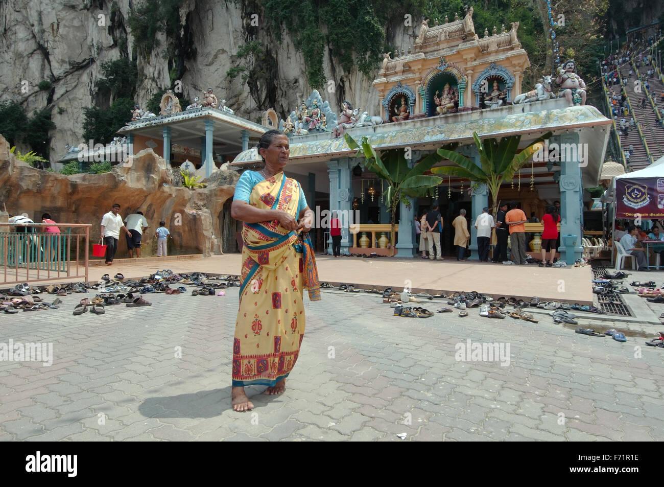 Batu Caves limestone caves and temples, Kuala Lumpur, Malaysia, Southeast Asia, Asia Stock Photo