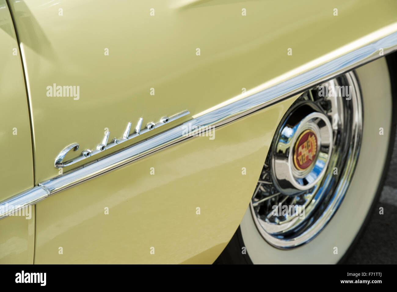 1954 Cadillac Eldorado Convertible Stock Photos El Dorado Car Detail Image