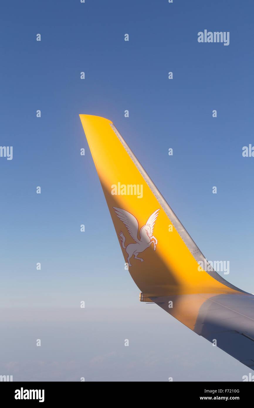Pegasus airline logo - Stock Image