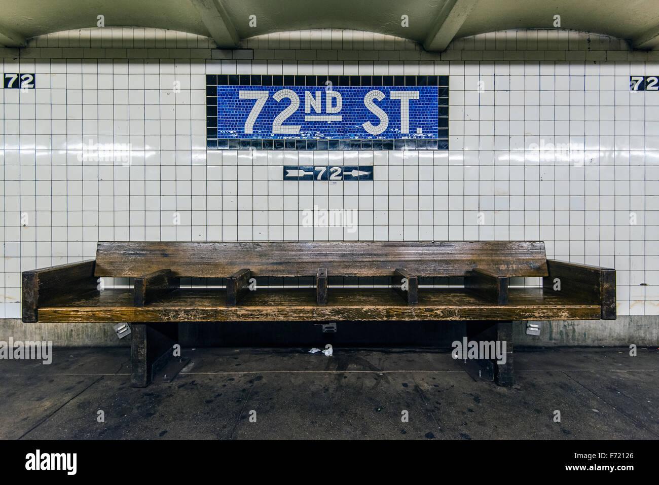 Subway station, Manhattan, New York, USA - Stock Image