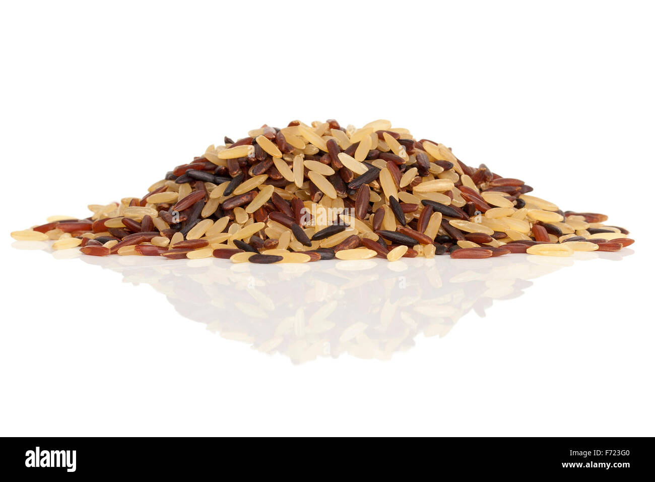 Wild rice mix isolated on a white background - Stock Image
