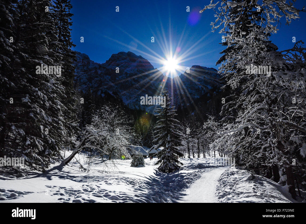 Sparkle in the sky, beautiful sunny day in Polish Tatra mountains - Stock Image