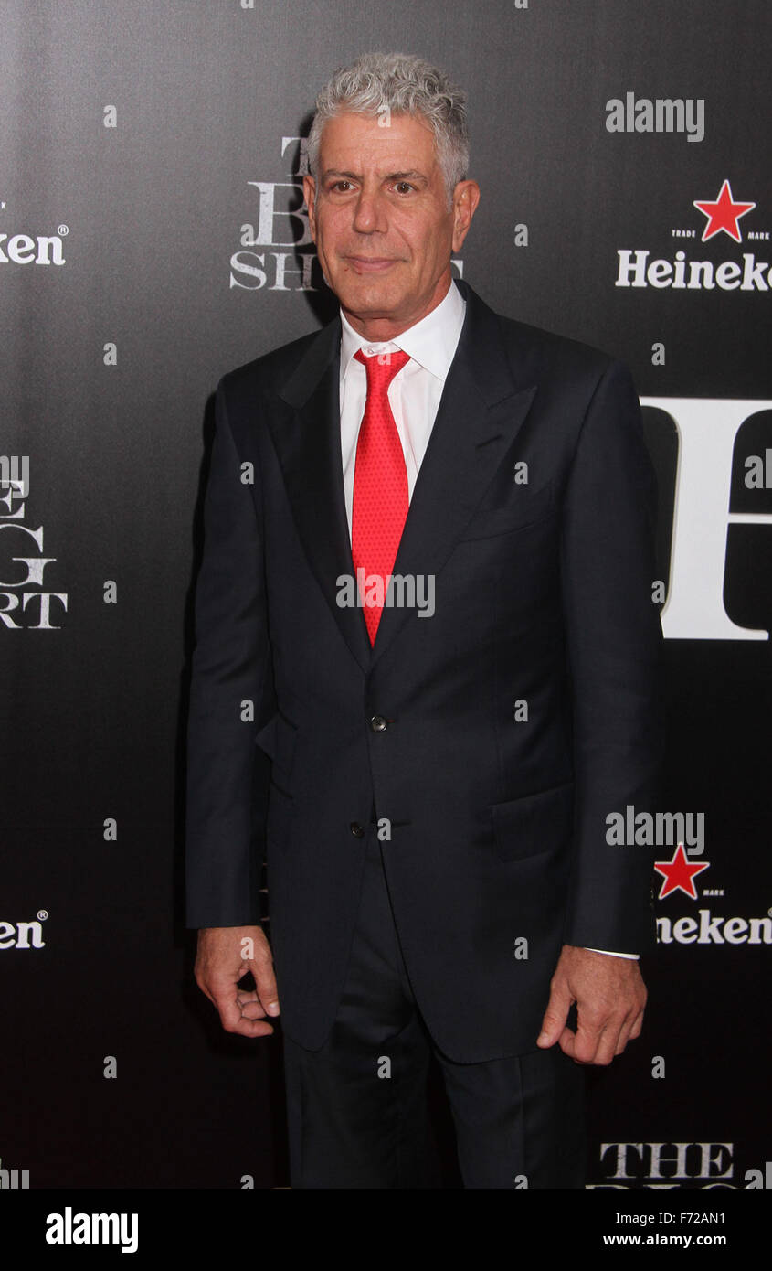 New York, New York, USA. 23rd Nov, 2015. Chef personality ANTHONY BOURDAIN attends the New York premiere of 'The - Stock Image