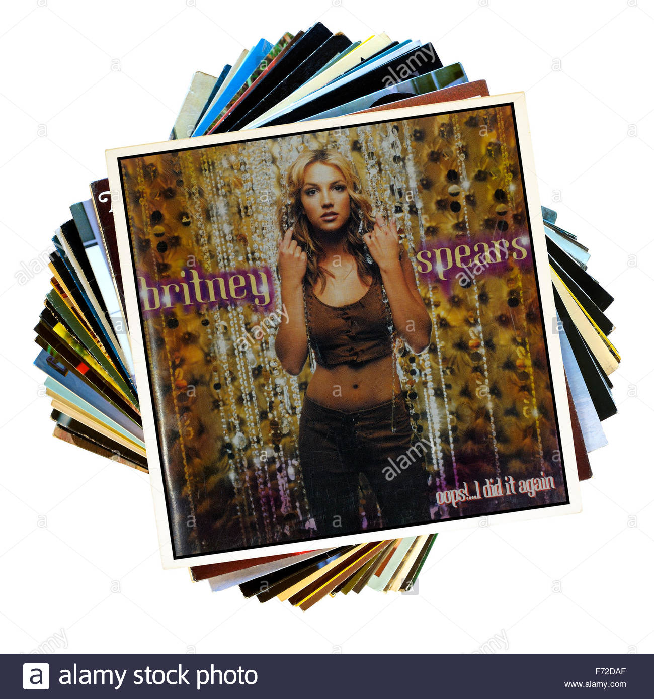 Britney Spears 2000 Album Oops I Did It Again Stack Of Lp Records Stock Photo Alamy