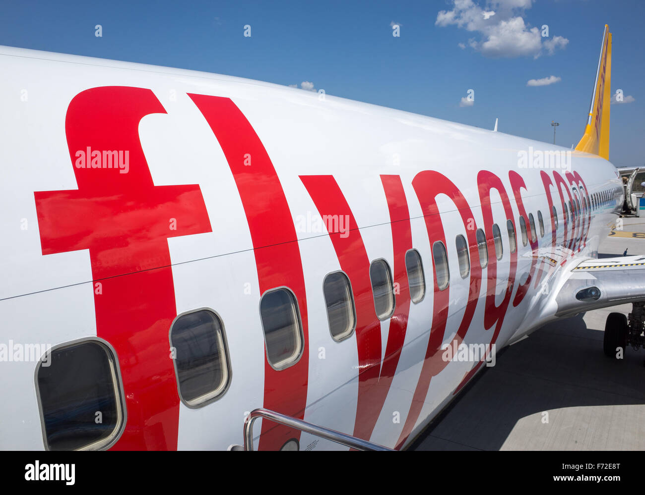A Fly Pegasus jet Stock Photo