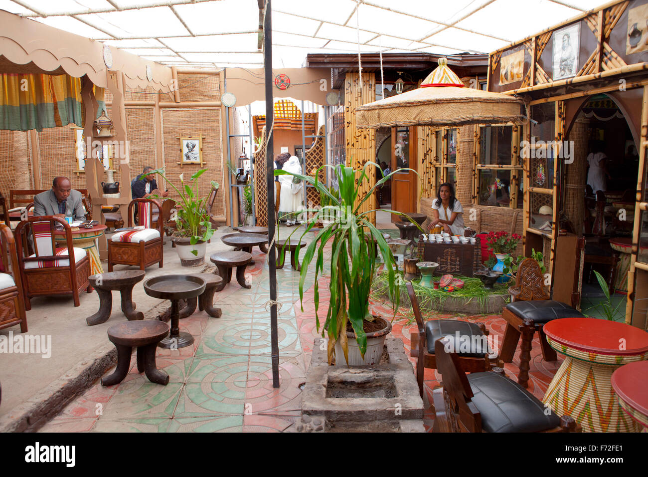 Traditional Restaurant Addis Ababa Ethiopia Africa