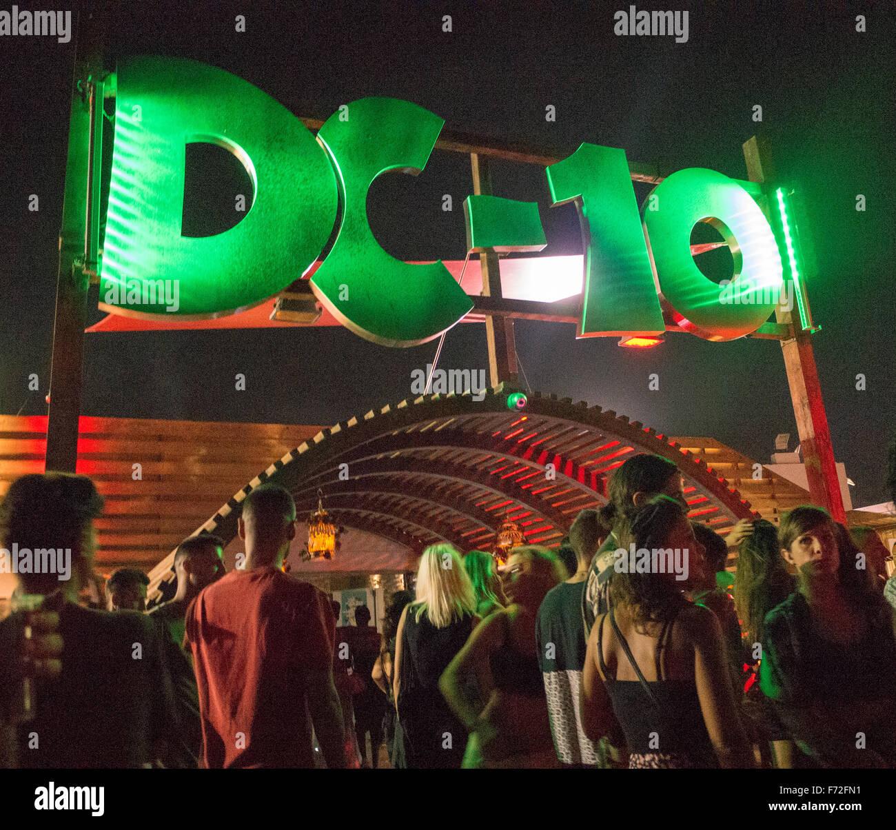 DC-10 club in Ibiza - Stock Image